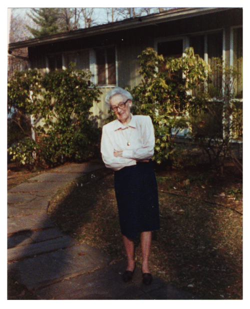Josie, known to one and all as Nana, at Ken's house