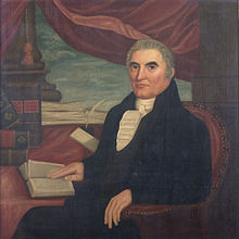 Peleg Arnold portrait from 1815 by Arnold Steere, currently in the John Hay Library at Brown University
