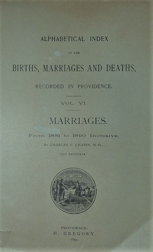 Providence Vital Records Index, 1850-1935 | One Rhode Island Family