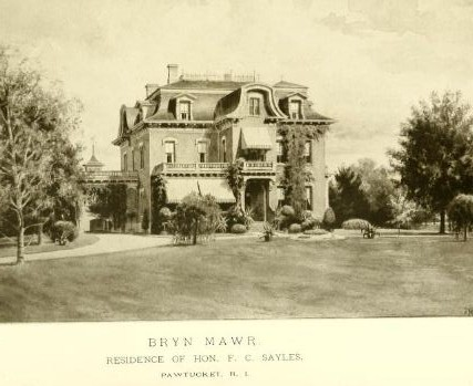 Bryn Mawr, residene of Hon. F. C. Sayles, Pawtucket, R.I., from History of Providence County, v. 2, p. 139