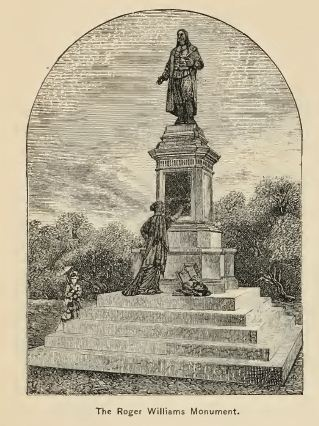 Roger Williams Monument, Providence, from Picturesque Rhoe Island, 1881, p. 194