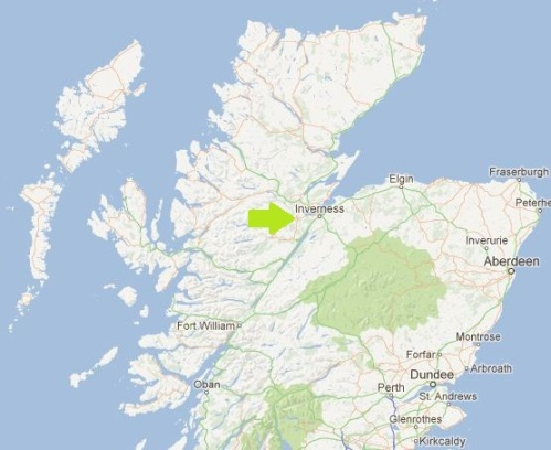 Location of Kilmorack