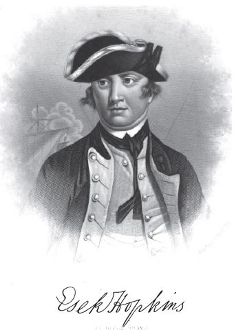 Esek Hopkins, first Commander in Chief of the American Navy, from fontispiece, vol. 8