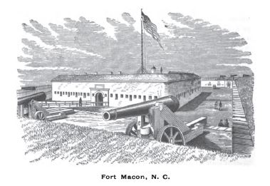 Fort Macon, NC, from History of the Fifth Regiment of Rhode Island, Burlingame, comp. Providence: 1892.