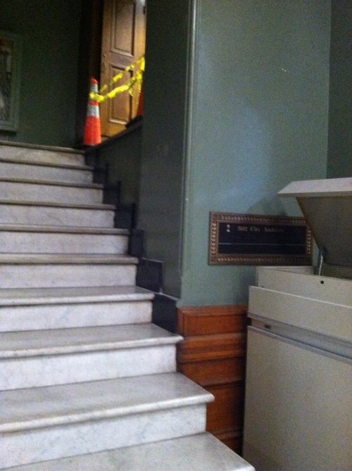 The secret stairway to the archives