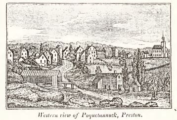View of Preston, from Connecticut Historical Collections, by J.W. Barber, 1836.