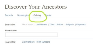Look for the CATALOG section at FamilySearch.org