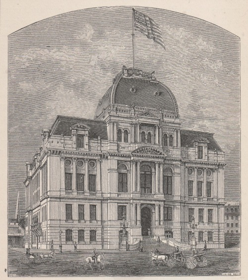 City Hall, Providence, from Picturesque Rhode Island by W. Munro, 1881