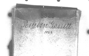 Cover of the probate packet 8929, Reuben Gassett, 1822