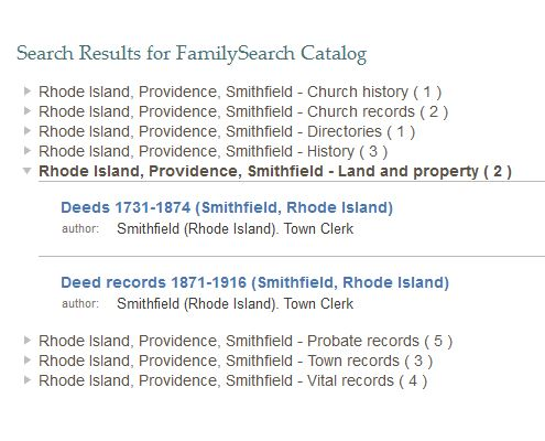 Microfilm for Smithfield, Rhode Island