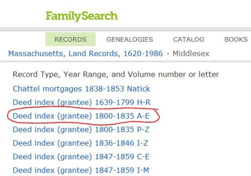 Choosing the GRANTEE Index for the years I want