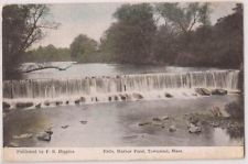 """The Falls, Harbor Pond, Townsend, Massachusetts"" from an old postcard."