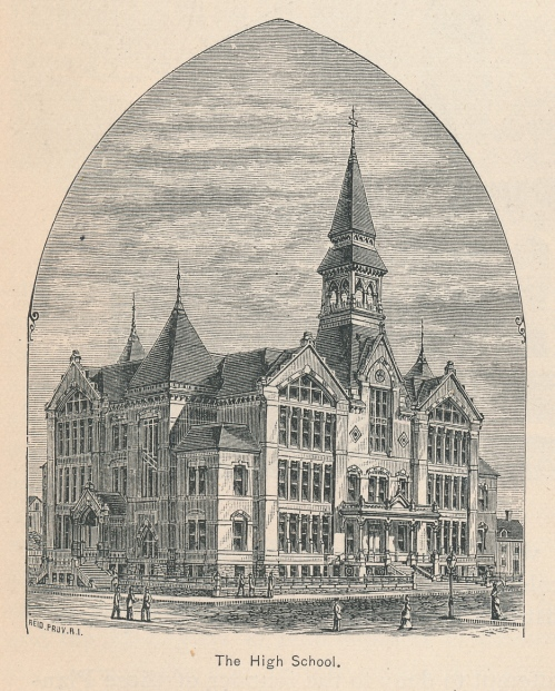192 – built in 1878 on Summer Street, near the present Classical and  Central High Schools. A View of Providence ...