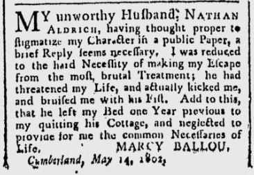 This snippet is taken from the Google News copy of the May 8, 1802 Providence Gazette, p. 4.