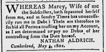 This snippet is taken from the Google News copy of the Providence Gazette May 8, 1802 issue.