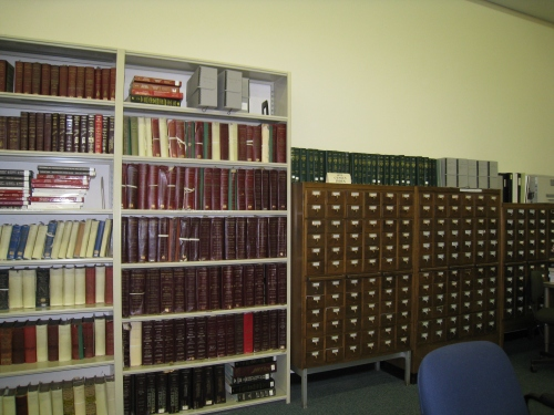 Card index of the 1875 RI state census, and part of the collection of city directories