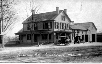 Sheldonville, Massachusetts Post Office at a much later date