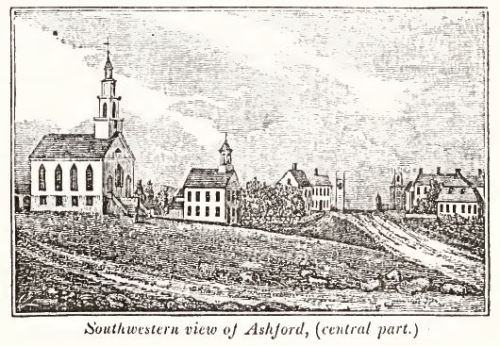 Ashford, from Connecticut Historical Collections by J.W. Barber, New Haven, 1836, p. 417.