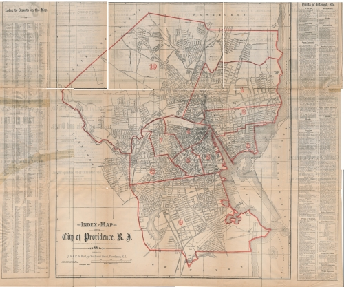 Map of Providence, Rhode Island, 1881