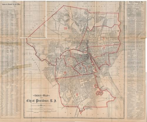 Map of Providence, Rhode Island, 1881