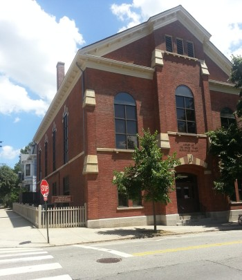 Rhode Island Historical Society Library, Hope Street, Providence.  Photo by Diane Boumenot.