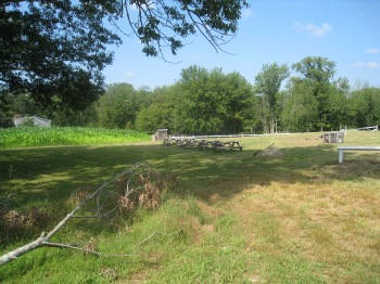 A farm sits at the corner of Burnt Swamp Road and Sumner Brown Road in Cumberland. Photo by Diane Boumenot, August, 2013.