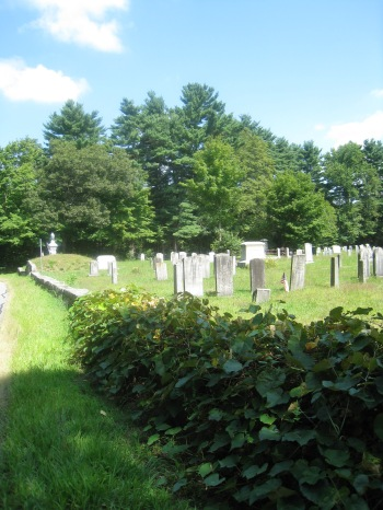 View of the Sheldonville Cemetery from the Road.  Photo by Diane Boumenot, August, 2013.