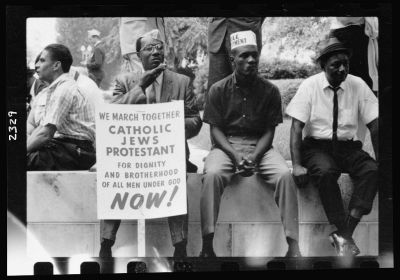 The civil rights march from Selma to Montgomery, Alabama in 1965.  Photo by Peter Pettus.  Library of Congress  LC-USZ6-2329
