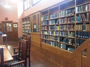 the special collections room at the Goodnow Library, Sudbury