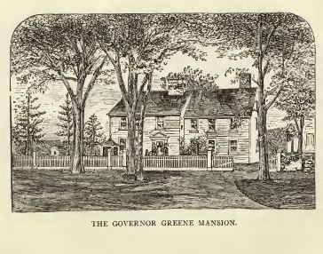 Governor Greene Mansion, located in Cowesett