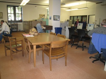 The main reading area at the library