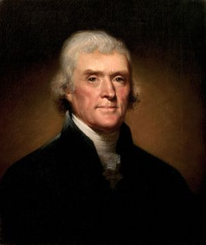 Thomas Jefferson, by Rembrandt Peale [Public domain], via Wikimedia Commons