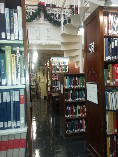The book stacks are extensive.