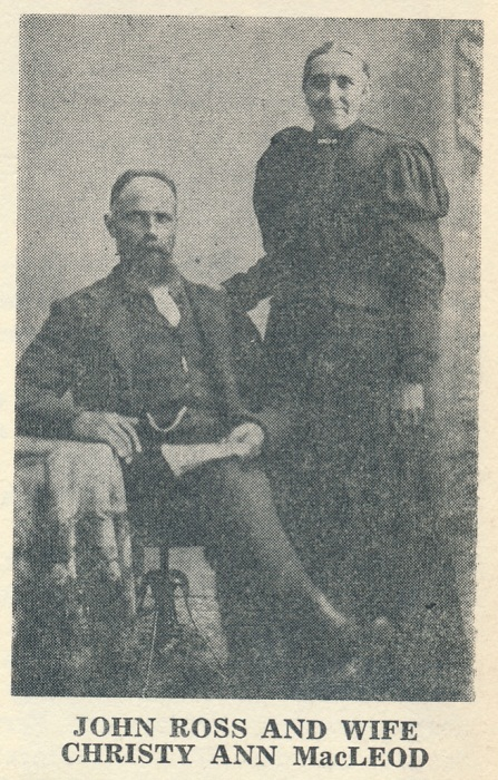 Christy Ann MacLeod and her husband, John Ross