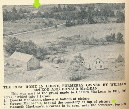The MacLean farm which became the home of William and Mary (MacLean) Murdock, from page 192