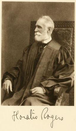 Judge Horatio Rogers, 1836 - 1904, one of the record commissioners who compiled the books.