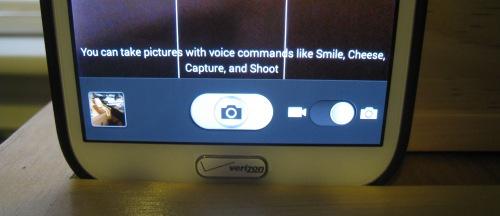 The camera screen on my phone