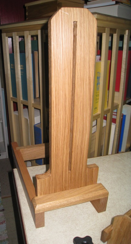 The arm of the stand shown from the back