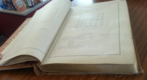 The book containing the ownership and record of burials for the plot.