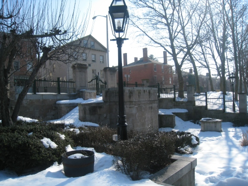 This picture, taken last winter, shows the picturesque entrance along North Main Street.