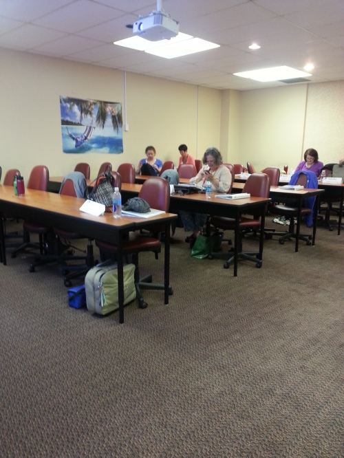 Our classroom during a break.