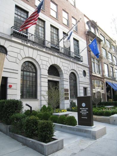 New Englnad Historic Genealogical Society library oin Boston.  Photo by Diane Boumenot.