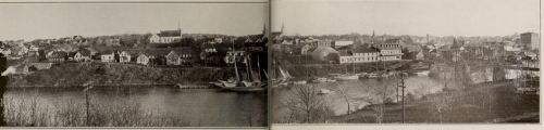 View of New Glasgow from the East River, 1916, from Nova Scotia's Industrial Center.
