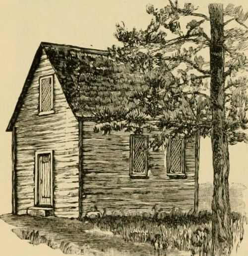 First Meeting-House in Salem, where Roger Williams is said to have preached, from Our Country's Story by Eva March Tappan, p. 74