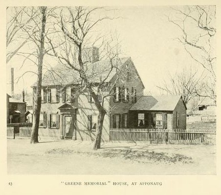 Greene Memorial House, at Apponaug.  from Narragasett Bay, it's Historic and Romantic Associations, 1904, p. 43