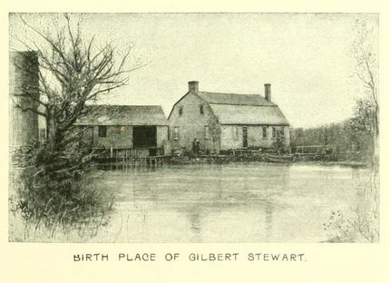 Nearby birthplace of Gilbert Stewart, from Narragansett Pier, R.I., page 36.