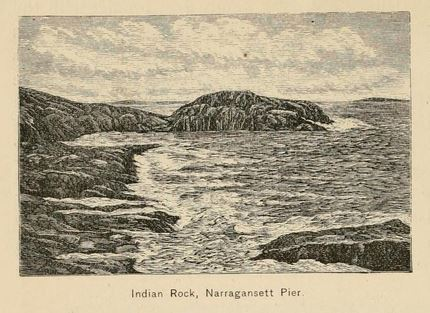 Indian Rock, Narragansett Pier from Picturesque Rhode Island, page 292.
