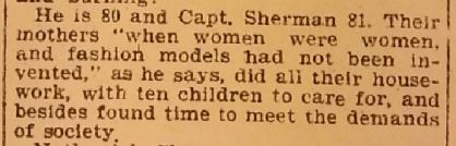 A quote from Lydia's 80 year old son, William, from the Norwich Bulletin, 12 Sep 1898, reminiscing with a friend about his mother.  Sent to me by a kind researcher in Norwich.