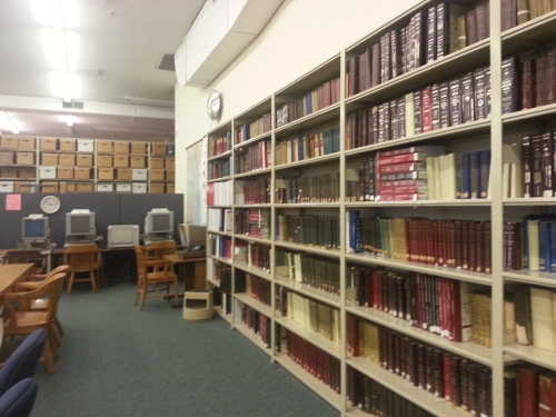 The State Archives reading room.  Photo by Diane Boumenot.
