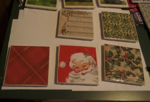 The Christmas tiles